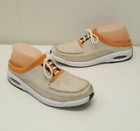 Cole Haan Shoes Beige Slip On Athletic Comfort Orange Trim 9 Lace Up