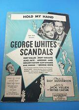 Vintage Sheet Music - Hold My Hand - Nasty Man - George Whites Sandals
