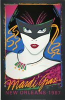 1987 New Orleans Mardi Gras Poster by Maan - Numbered