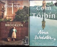 Colm Toibin 2 Book Lot Brooklyn Nora Webster Paperback Ireland New York Fiction