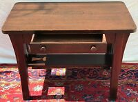 ARTS & CRAFTS MISSION OAK CRAFTSMAN ANTIQUE OFFICE DESK / LIBRARY TABLE