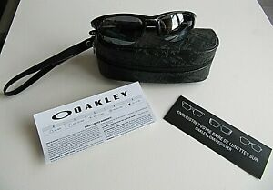 AUTHENTIC OAKLEY HALF JACKET  BLACK/ BLACK 03-614 60-20 MADE USA W/CASE PAPERS