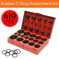 419PCS Rubber O Ring Kit Metric Grommet Seal Plumbing Garage O-Ring Assortment