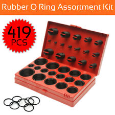 419PCS Rubber O Ring Kit Metric Grommet Seal Plumbing Garage O-Ring Assortment