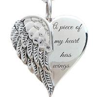 1Pcs Silber Metall Engel Flügel Halskette Kette Anhänger Schmuck