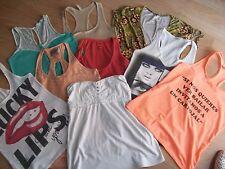 Bershka,Stradivarius,Zara.....Lote de 9 camisetas talla S.