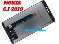 DISPLAY LCD +TOUCH SCREEN ORIGINALE NOKIA per 6.1 2018 TA-1045 1068 NERO VETRO
