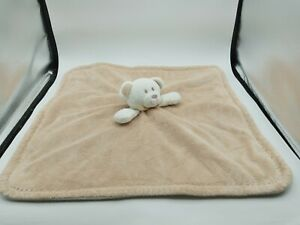 Blankets And Beyond Baby Lovey Security Blanket Plush Beige Tan And White Bear