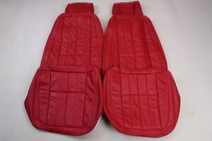Custom Made 1968-1969 Corvette Real Leather Seat Covers RED
