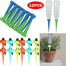 12Pcs Garden Plant Automatic Self Watering Spikes Stakes Valve Waterer Device Us