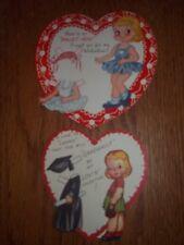 RARE Vintage Valentine Paper Doll Greeting Cards by A-Meri-Card Unused
