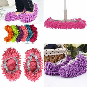 House Bathroom Floor Lazy Dust Cleaner Cleaning Slipper Shoes Cover Mop Sock