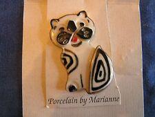 Adorable Vintage Cat Pin Porcelain By Marianne Hanson Arkansas Craftsman Fun Fun