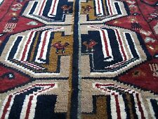 Antique (1911) BESHIR TURKMEN Rug Claret Red Dark Blue Beige 3' x 5' (94 x147cm)