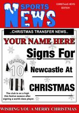 Newcastle Christmas Football Card PIDY26   A5 Xmas Greeting Card Personalised