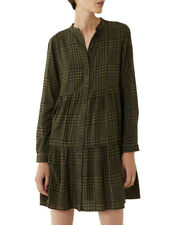 Warehouse Fearne Check Tiered Mini Dress