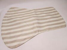 Pair of John Lewis Polyester Cream Beige Striped Summer Chair Covers #11B207
