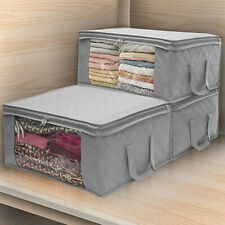 Foldable Home Closet Storage Bag Clothes Quilt Blanket Zipper Home Organizer Box
