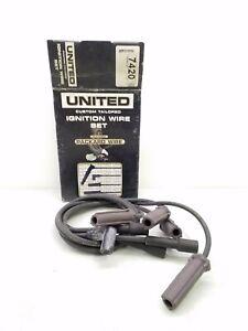 7420 United Ignition Wire Set 7mm Black Chevrolet  2.2