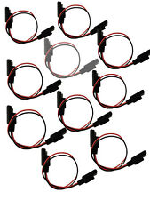 10PC 18 Gauge 2 Pin Quick Disconnect Cable Wire Harness SAE Connectors Universal