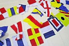 Naval Signal Flags/ Flag - String of 40 flags Bunting - 38 Feet - 100% COTTON
