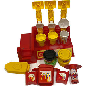 Play Doh Kids Deluxe Make A Meal Multiple Shapes Mcdonalds Play Set