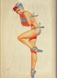 Vintage print model old photo poster canvas framed bikini 1920