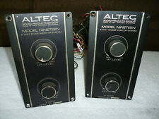 Altec Lansing Model 19 Crossovers Used Not Modified