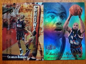 1997-98 Flair Showcase Row 3 & Finest Showstopper Charles Barkley Very Sharp