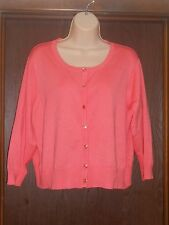 Cato Lightweight Cardigan Sweater Sz. 18/20 Orange NWT Easter Spring New