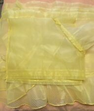 Vintage 1960's Yellow Polka Dot Curtain Set 6 Piece 4 Panels 2 Valences