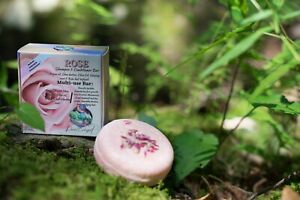 Rose Shampoo & Conditioner Bar - Nourishes Broken, Dried, & Dying hair.