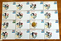 1984 China Post Card 23th Olympic Games JP1 - Set of 16 Full Set