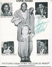 Stepin Fetchit Autograph Silent Movie Actor In Bend Of The River Signed Photo