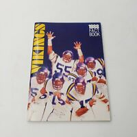 1988 Minnesota Vikings Fact Book Media/Press Guide Official NFL Yearbook