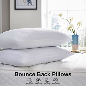 NEW! Bounce Back Filling Super Spring Soft Plump Comfort Non Allergenic Pillow