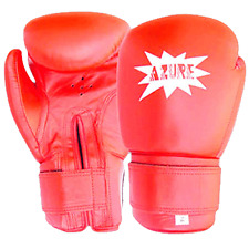 Boxing Gloves Sparring MMA Punching Training Mitts PU Leather 10 oz Red