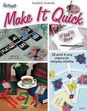 📗 Craft Book Make it Quick Plastic Canvas Stitching 34 Projects