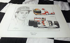 McLAREN FORD MP4 8 MP48 AYRTON SENNA 1993 NEW PAINTING PRINT PORTRAIT ART DUGAN