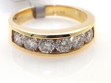 14K Yellow Gold Ladies Band Channel Set G SI Round Diamonds Size 6.25