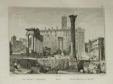 1836:ROMA,FORO ROMANO E CAMPIDOGLIO.LAZIO.AUDOT.Acciaio.In Passepartout