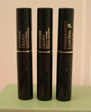 3 Lancome Hypnose Drama Mascara Volume Excessive Black .135 oz. Each Travel Size