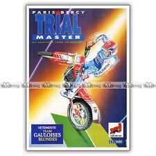 PUB TRIAL MASTER à PARIS-BERCY - Ad / Publicité COURSE MOTO 1990