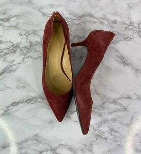 Michael Kors Womens Leather Burgundy Pointy Heel Sz 8.5M