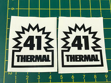 old school bmx decals stickers odyssey 41 thermal forks black on clear pair