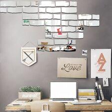 DIY Bricks Vinyl Wall Mirror Stickers Brick Bathroom Home Decorative Sticker SK