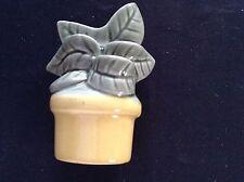 Vintage Flower Pot Wall Pocket Measuring Spoon Holder