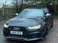 2015 Audi RS6 4.0 TFSI Quattro Auto Black + Pan Roof + Stage 2 + Milteck Exhaust