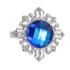 10 Ronds de serviette mariage bague diamant bleu marine    Ref : L 12