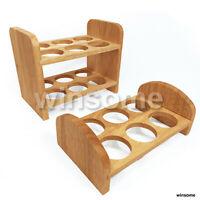 6/12 Egg Bed Holder Stand Rack Safe Wooden Box Storage Stand Kitchen Worktop